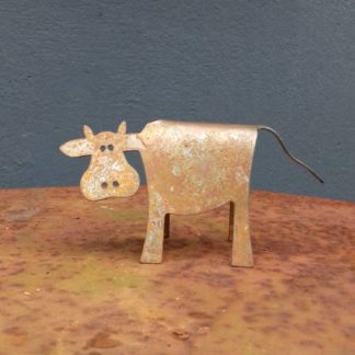 Déco pour intérieur et extérieur vache en fer