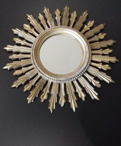 Ancien miroir soleil en résine